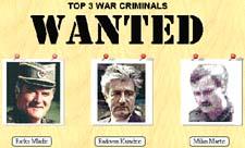 Top 3 War Criminals Wanted