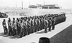 Navajo Code Talkers: in formation at Camp Pendelton, California