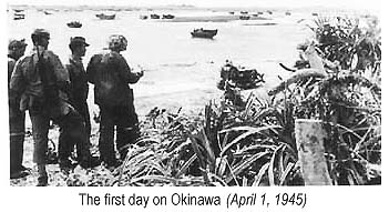 The first day on Okinawa, April 1, 1945