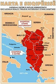 map of 'great Albania'